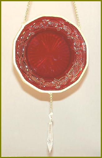 Depression Glass Suncatchers