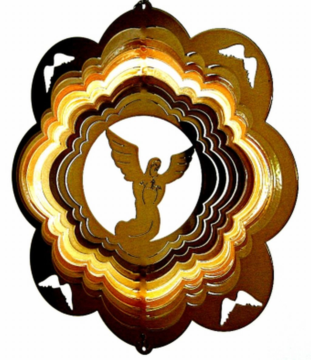 12 INCH ANGEL WIND BRASS SPINNER