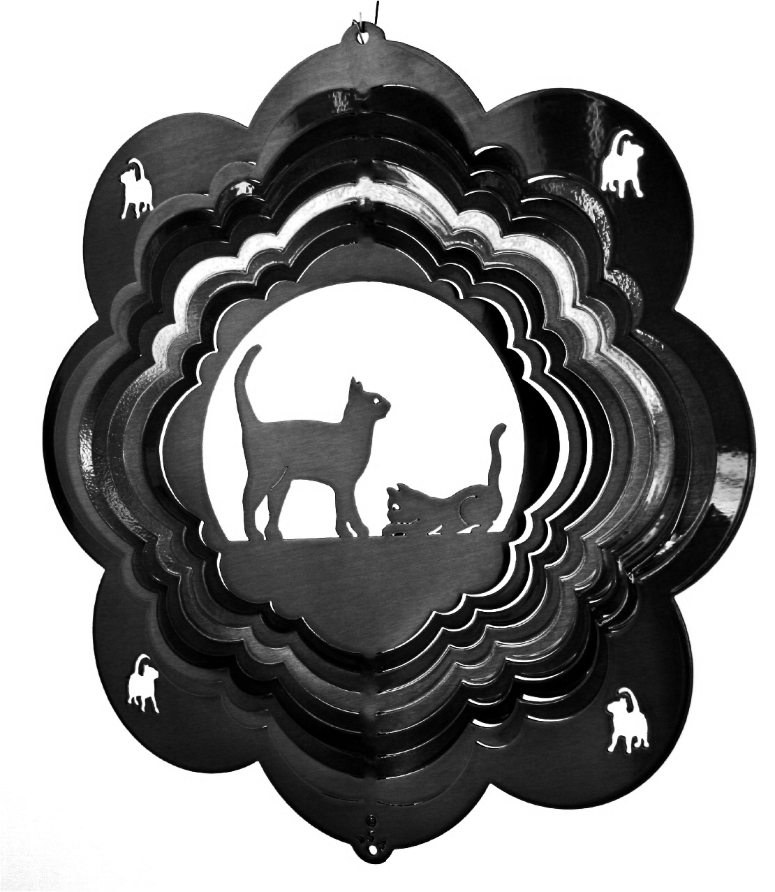 12 INCH CATS BLACK WIND SPINNER