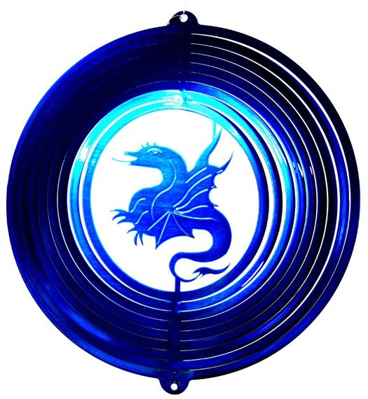 12 INCH DRAGON BLUE WIND SPINNER