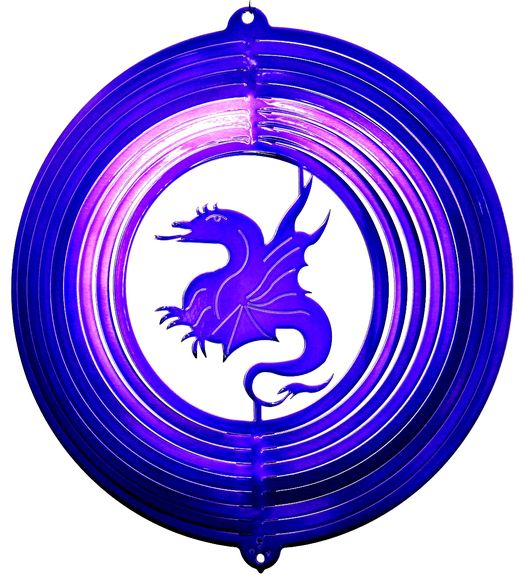12 INCH DRAGON PURPLE WIND SPINNER