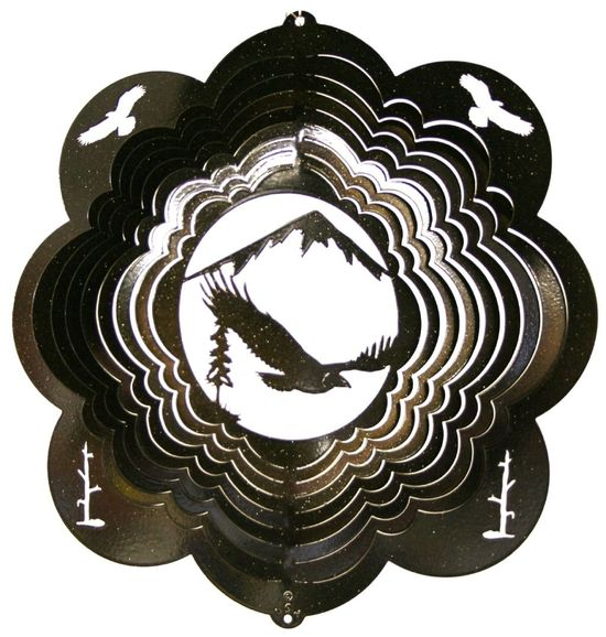 12 INCH EAGLE 2 BLACK WIND SPINNER