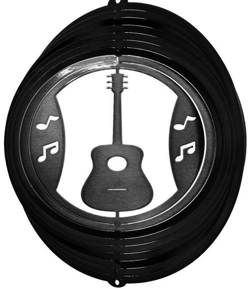 12 INCH GUITAR BLACK WIND SPINNER