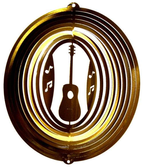 12 INCH GUITAR BRASS WIND SPINNER