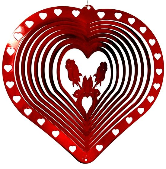 12-inch-Valentines Day Red Wind Spinner