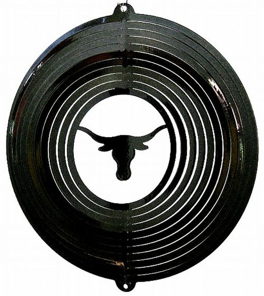 12 INCH LONGHORN BLACK WIND SPINNER