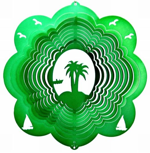 12 INCH PALM TREE WIND SPINNER - Click Image to Close