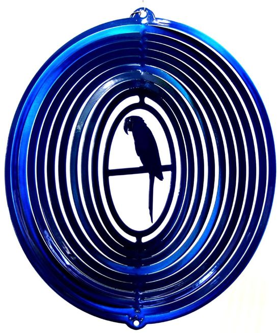 12 INCH PARROT BLUE WIND SPINNER