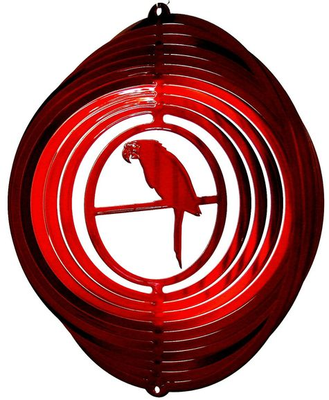12 INCH PARROT RED WIND SPINNER