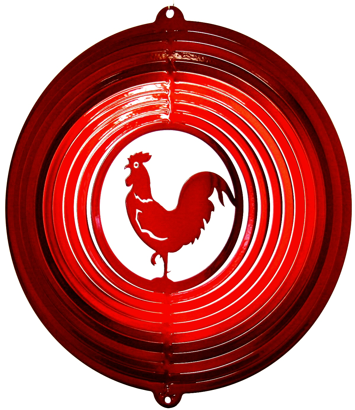 12 INCH ROOSTER RED WIND SPINNER