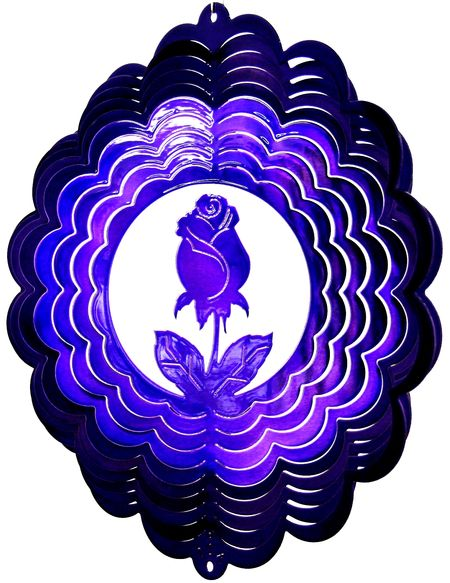 12 INCH ROSE PURPLE WIND SPINNER