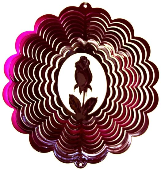 12 INCH ROSE RASPBERRY WIND SPINNER