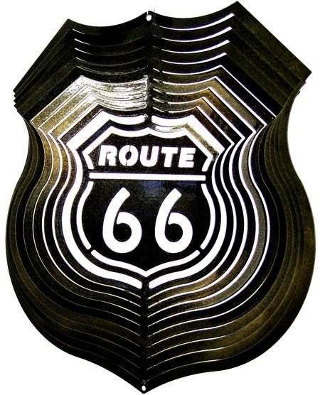 12 INCH BLACK ROUTE 66 WIND SPINNER