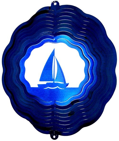 12 INCH SAILBOAT WIND SPINNER