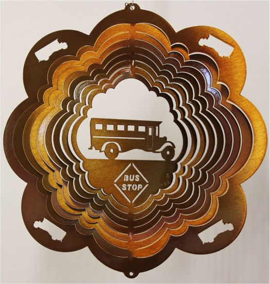 12 INCH SCHOOL BUS COPPER WIND SPINNER