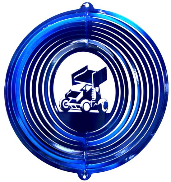 12 INCH BLUE SPRINT CAR WIND SPINNER