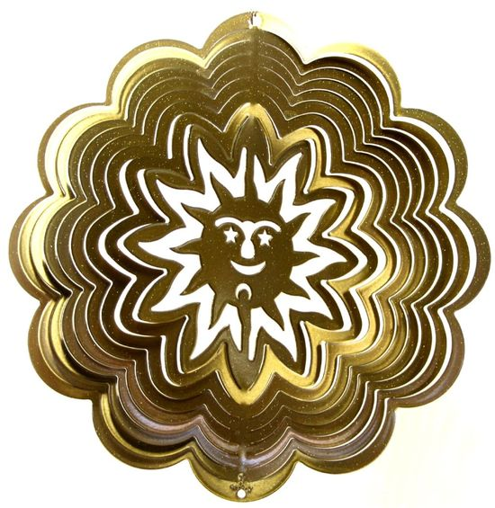 12 INCH SUN BRASS WIND SPINNER