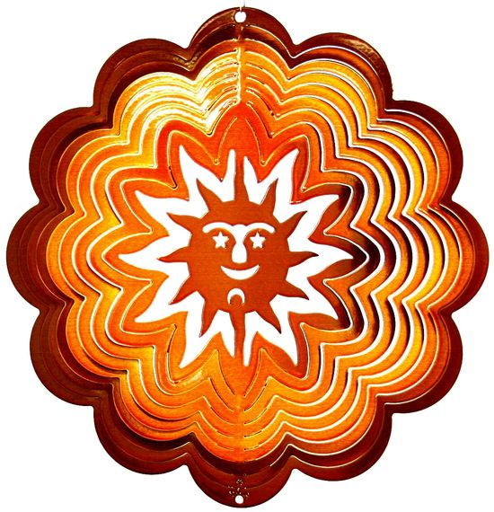 12 INCH SUN COPPER WIND SPINNER