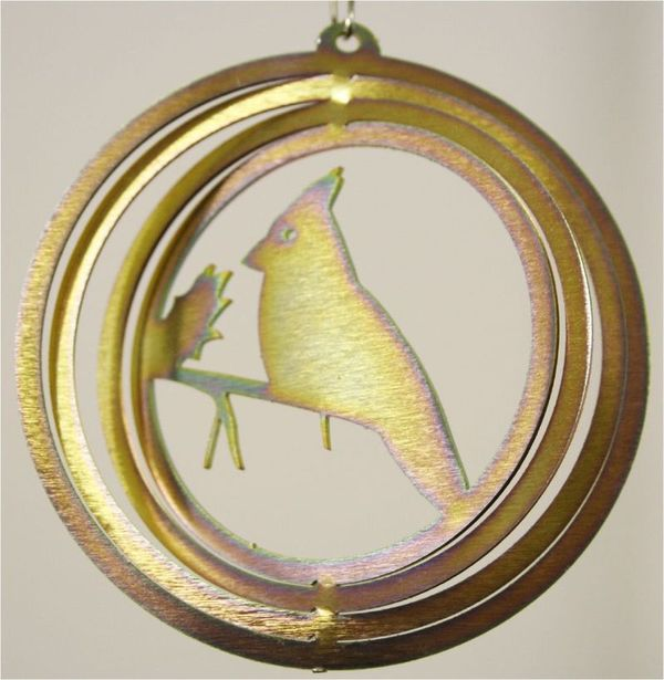 Cardinal 4 Inch Mini Yellow Zinc Wind Spinner