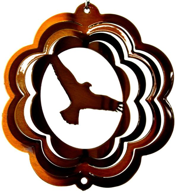 Eagle 4 Inch Mini Copper Wind Spinner