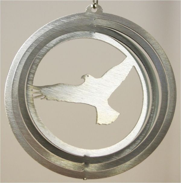Eagle 4 Inch Mini Silver Zinc Wind Spinner