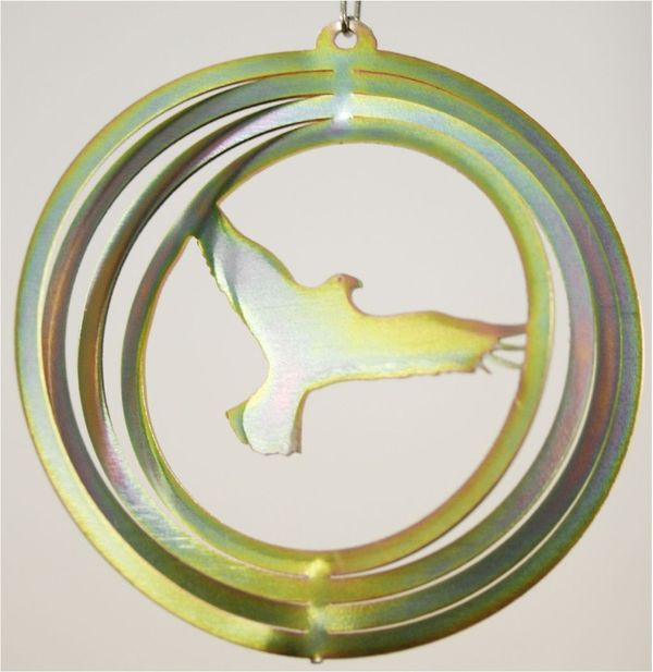 Eagle 4 Inch Mini Yellow Zinc Wind Spinner