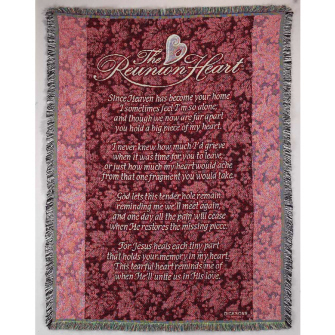 Tapestry With the Reunion Heart Poem