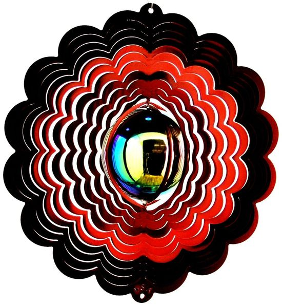 Red Gazingball Wind Spinner
