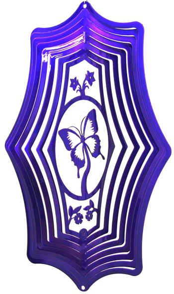 16 Inch Butterfly Theme Purple Wind Spinner