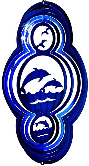 16 Inch Dolphin Theme Blue Wind Spinner