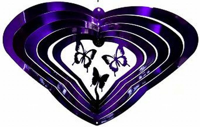 "12 "" Winged Butterfly Purple Wind Spinner"