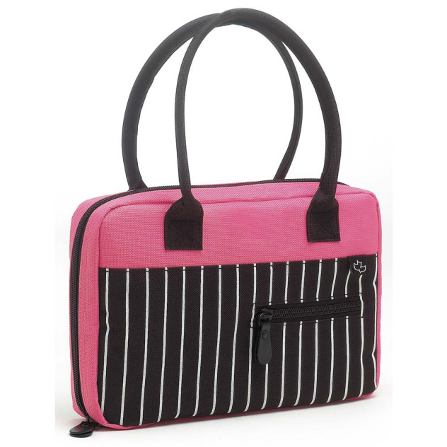 TEEN HANDBAG BIBLE COVER, PINSTRIPE