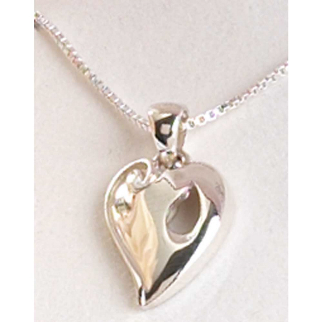 Silver Reunion Heart Necklace