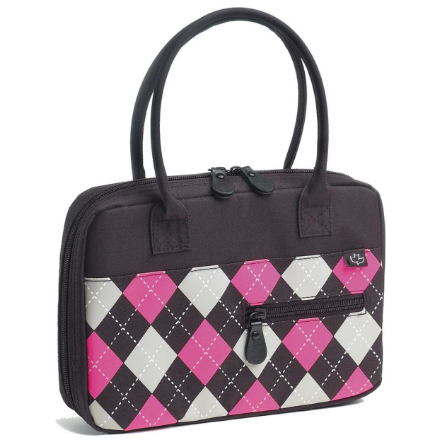 TEEN HANDBAG BIBLE COVER, ARGYLE MICROFIBER