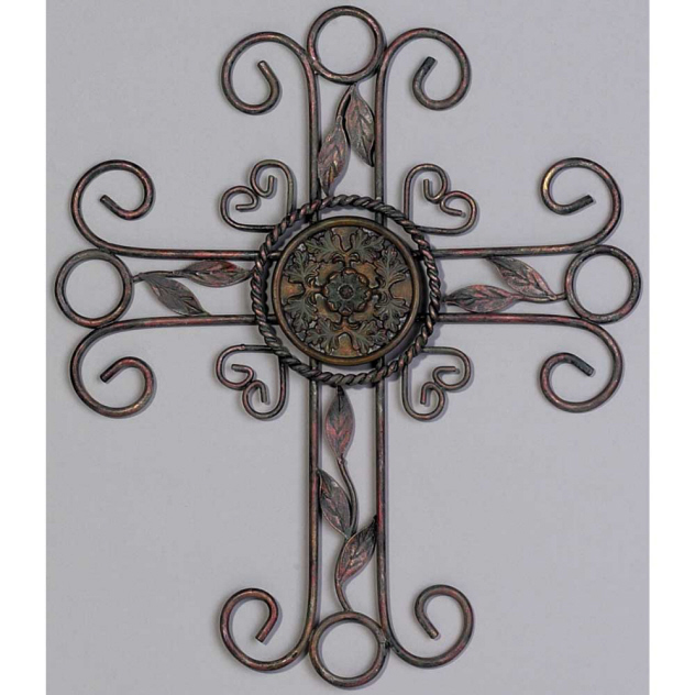 ANTIQUE CROSS WITH WITH CLIMBING LEAVES
