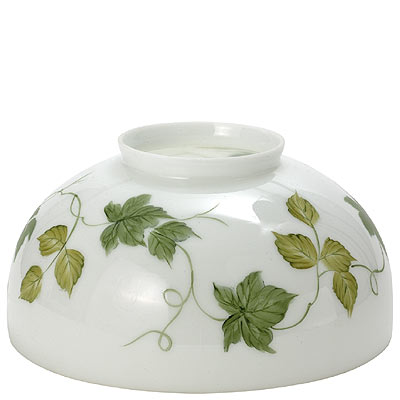 WHITE DOME WITH GREEN IVY LEAVES
