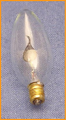 Light Bulb Flicker Flame, Candelabra Base, Torpedo Shape,