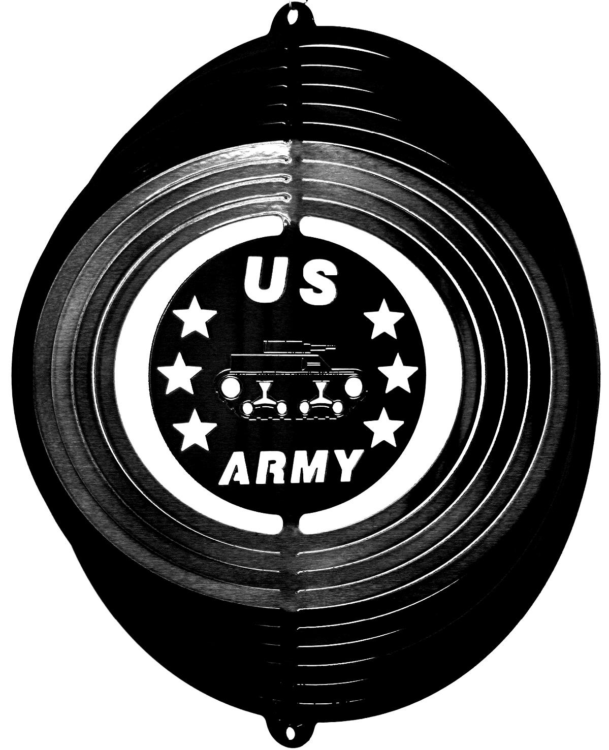 12 INCH ARMY WIND SPINNER