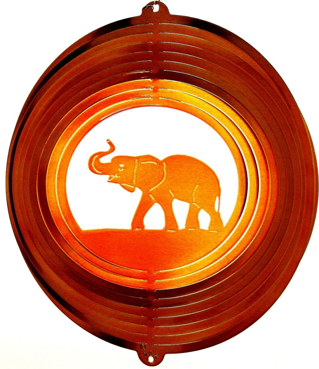 12 INCH ELEPHANT WIND SPINNER