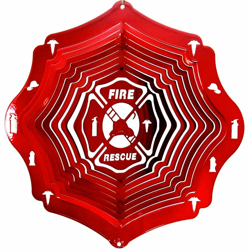 12 INCH FIRE & RESCUE WIND SPINNER