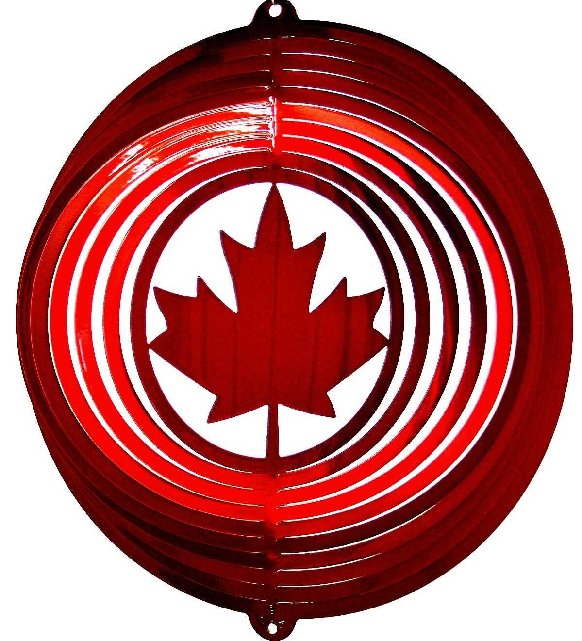12 INCH MAPLE LEAF WIND SPINNER
