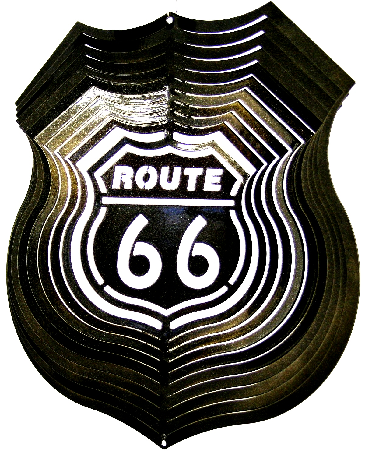 12 INCH ROUTE 66 WIND SPINNER