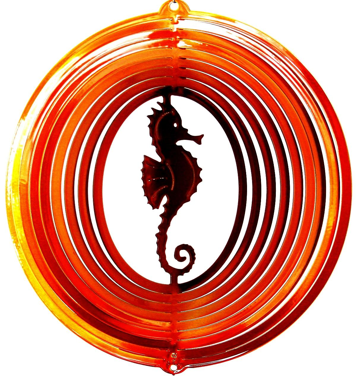 12 INCH SEAHORSE WIND SPINNER