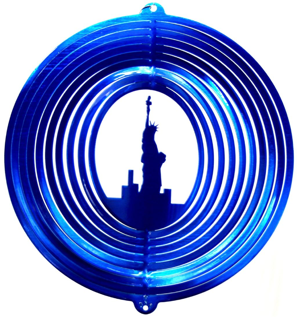 12 INCH STATUE OF LIBERTY WIND SPINNER