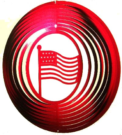 12 INCH AMERICAN FLAG WIND SPINNER