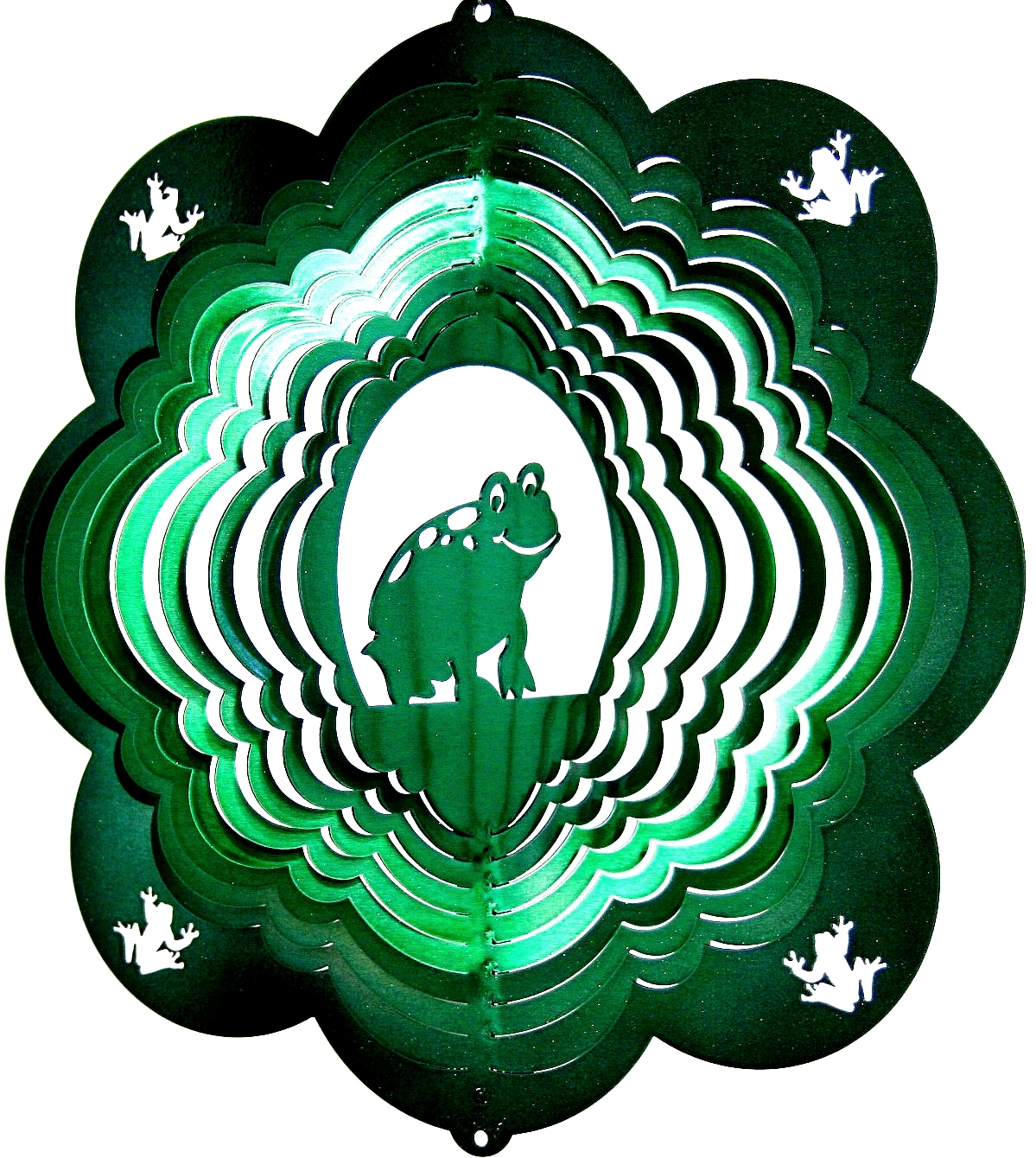 12 INCH FROG WIND SPINNER