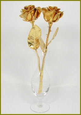 "2 11"" Gold Roses"