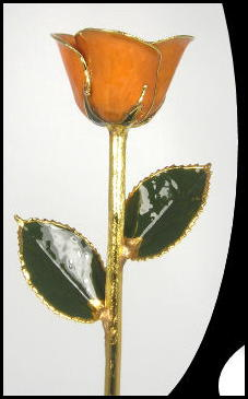 "11"" Orange Gold Rose"