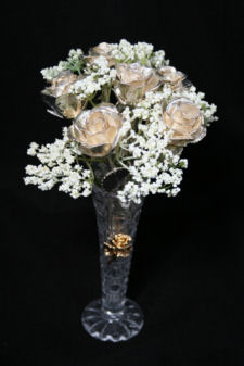 "6 8"" All Silver Roses"